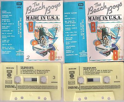 THE BEACH BOYS Made in USA  DIFFICULT SPANISH  DOUBLE  Cassette  SPAIN