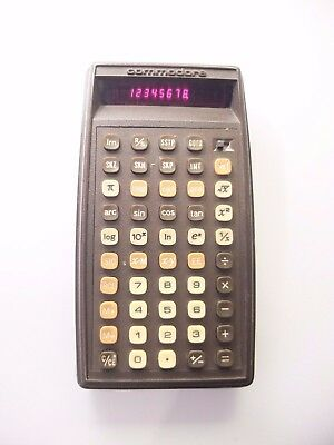 Vintage Commodore P50 Programmable Calculator Red Led 1977  Made In Hong Kong