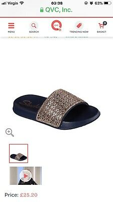 online for sale lovely luster top-rated fashion SKECHERS 2ND TAKE Summer Chic Rhinestone Slide Sandal ...