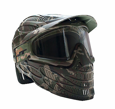 New JT Spectra Flex 8 Full Coverage Thermal Paintball Goggles Mask Woodland Camo