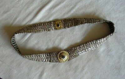 Antique 18c. Handmade Silver Alloy Belt. Ottoman Empire, Greek and Balkans.