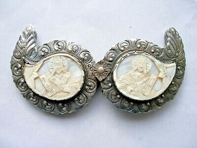 Antique. Handmade Silver Belt Buckle. Ottoman Empire, Greek and Balkans.