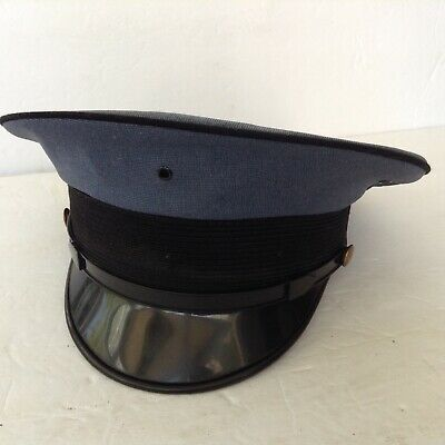 020c9ea168228 Vintage Men s Blue Gray Fire Department Class-A Dress Hat Brass Pins