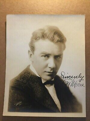 Tom Moore Rare Very Early Vintage Original Autographed 7/9 Actor Director 1918