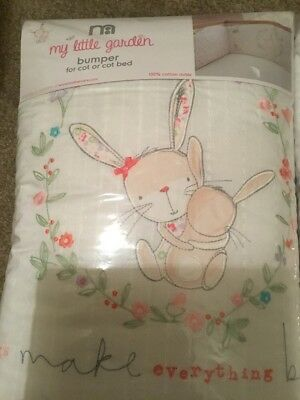 Mothercare My Little Garden Bumper For A Cot Or A Cot Bed ** Bnip **