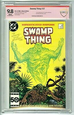 Swamp Thing #37 Signed Bissette 6/85 Vsp/Cbcs 9.8 Nm/Mt Not Cgc 1St Constantine