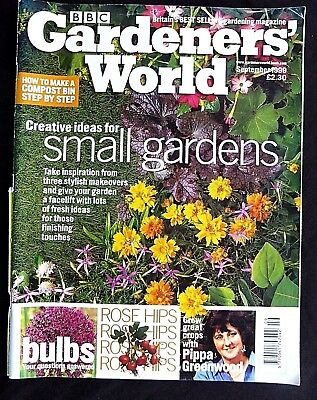 Gardeners World, September 1999, Creative Ideas For Small Gardens, Grow Crops
