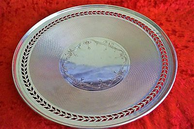Vintage Alvin Sterling Silver Cake Plate Pierced & Footed H26-1 Mothers Day Gift