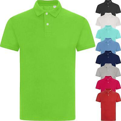 Mens Lightweight Pique Polo T Shirts Cotton Short Sleeve Summer Top Shirt S-XXXL