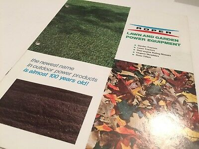 ROPER Lawn & Garden Power Equipment Well Illustrated Original 1973 Brochure