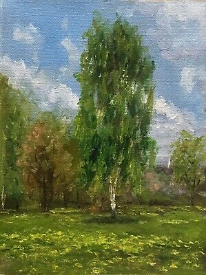 "Original Oil Painting, Landscape, SUNNY DAY 6x8"" Schelp"