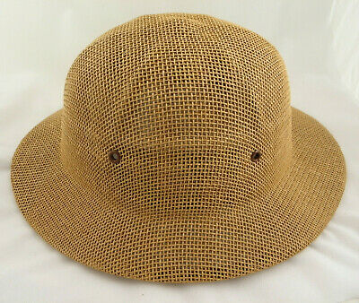 c8b24f04 SAFARI or Summer Hat from Brookstone - Beige / Brown - Adjustable - 4  Grommets