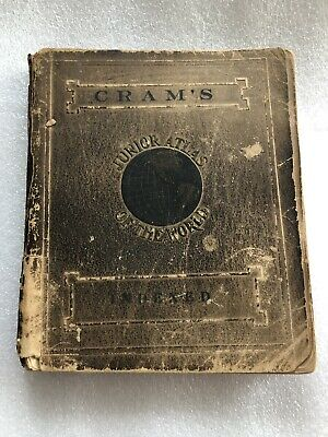 Cram's Junior Atlas of The World Indexed, New Census Edition  1912