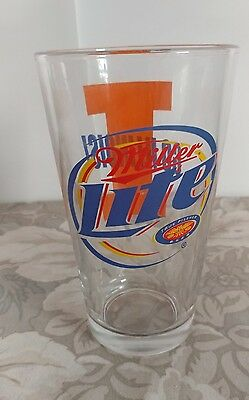 Miller Lite Pint Glass GO ILLINOIS/ Fighting Illini
