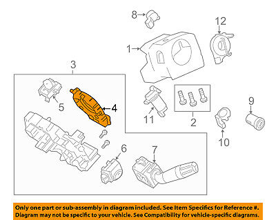 ford oem steering column-sensor assembly bc3z3f818a