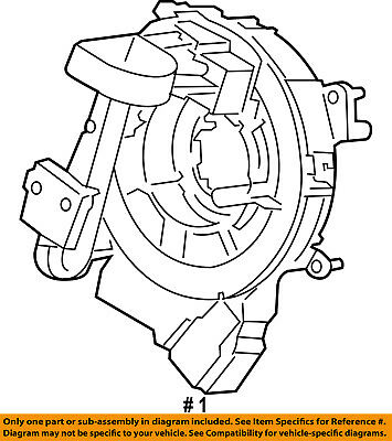 2015 2018 Ford F 150 Air Bag Contact Clock Spring New Oem Hl3z