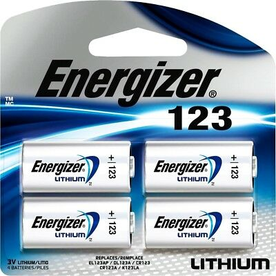 Energizer Lithium 123 Cr123A 3V Photo Battery - 4 Pack **latest Exp. 12-2028**