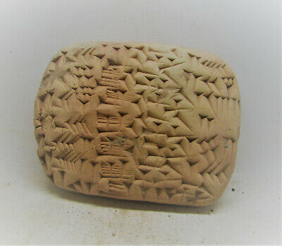 Circa 3000-2000Bce Ancient Near Eastern Clay Tablet With Early Form Of Writing