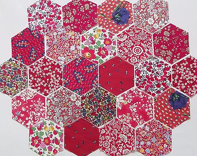 """Liberty Cotton Tana Lawn Fabric Patchwork 3"""" Hexagons- Pack of 50 or 60"""