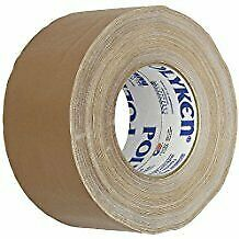 "BROWN Gaffers Tape, POLYKEN 510 72mm x 50M (3""x55yds) - Convenience Pack 3 Rolls"