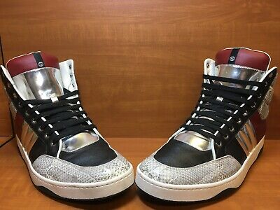 4e9a51f47ce 100% Authentic Gucci GG Ronnie Avery High Top Snakeskin 368494 Size 12 US 11