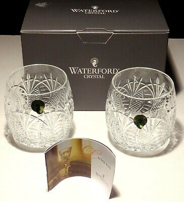 2 New Waterford Crystal Seahorse Double Old Fashioned Glasses ~ Made In Ireland