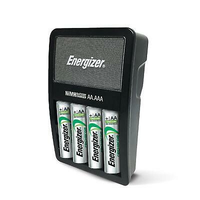 Energizer Rechargeable Rechargable AA AAA Battery Charger 4 Batteries Included