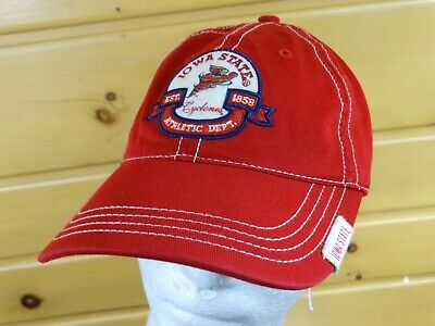 huge discount 10558 a2a20 Iowa State Cyclones Cap Hat Red One Sizes Drew Pearson Marketing New Ncaa