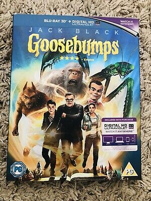 Goosebumps [Blu-Ray 3D + Digital HD, 2016] New & Sealed DW
