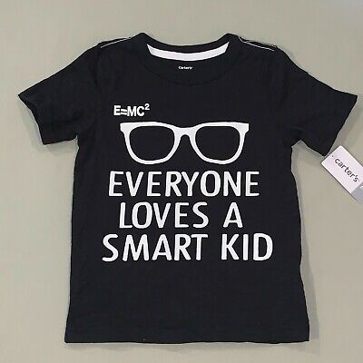 Boys Size 2 2t Carter's Everyone Loves A Smart Kid Shirt Nwt