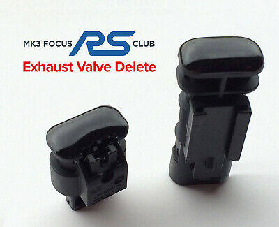 MK3 Ford Focus RS 2.3 Exhaust Valve Delete Terminator + Blanking Plug Protector