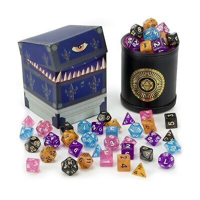Wiz Dice Cup of Wonder: 5 Sets of 7 Premium Glitter Polyhedral Role Playing G...