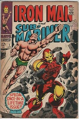 IRON MAN AND SUB-MARINER #1 1968. lead into IRON MAN and SUB-MARINER series