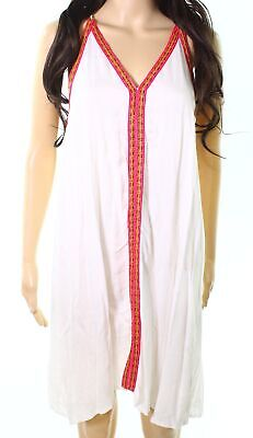 731675a4d8 Raviya NEW White Womens Size Medium M Embroidered Cover-Up Swimwear $44 003