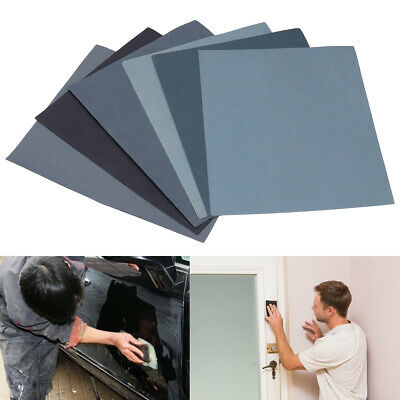 Wet And Dry Sandpaper Abrasive Sanding Paper Sheets 1500 - 8000 Grit Car Paint
