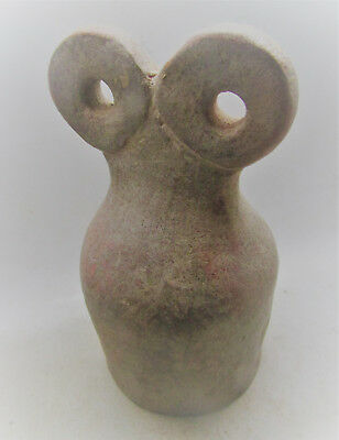 Very Rare Ancient Syro Terracotta Idol. All Seeing Eyes Tell Brak