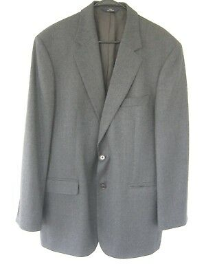 Brooks Brothers 346 44L Gray Herringbone Lambs Wool Sport Coat Jacket Blazer