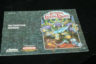 Conquest of the Crystal Palace (Nintendo, 1990) Instruction Manual ONLY NES
