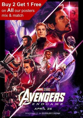 Marvel Avengers Endgame Dolby Movie Poster A5 A4 A3 A2 A1