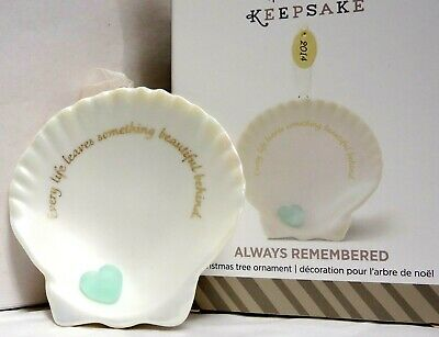 HALLMARK 2014 Always Remembered Sea Shell Memorial Ornament  NEW in BOX