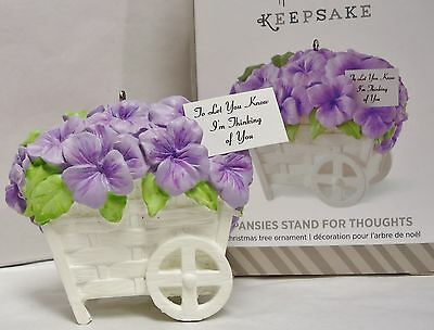 HALLMARK 2014 Pansies Stand for Thoughts Pansy Flower Ornament NEW in Box