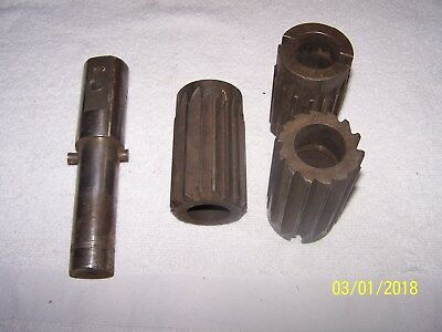 3 HSS Straight Flute Shell Type Reamers With Arbor - 2 1/8, 2 1/16