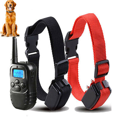 4 Modes Waterproof 2 Dog Shock Training Collar Pet Trainer with Remote 800 Yard