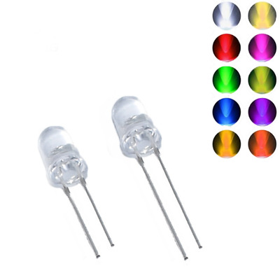 5mm Ultra Bright LED Emitting Diode Water Clear Lamp Various Color Light RGB DIY