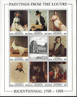 Art Stamps Paintings By St-vincent-grenadines Mnh Scott # 1777-81 Sheet Value $ 34.00