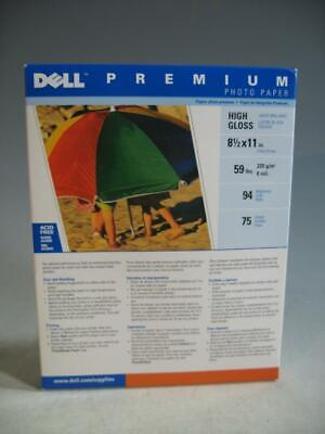 Dell Premium Photo Paper High Gloss 8-1/2 X 11 75 Sheets- Unopened #66
