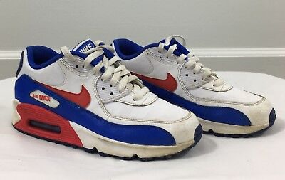 cheaper efc2f 78d14 724821-104 Boy s Nike Air Sneakers Size 6.5Y 2015 Blue Red White 90 LTR