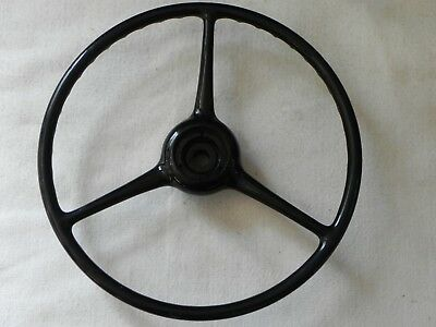"""Vintage Sheller Steering Wheel-18"""" X 4""""-7/8"""" Splined Hole-Nos?-Chev/Ford/Jeep/Ch"""