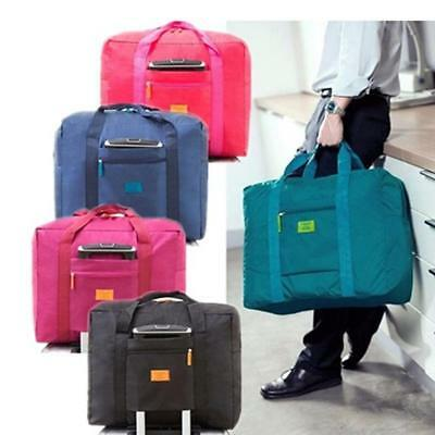 Foldable Suitcase Travel Bag Large Luggage Carry-On Clothes Storage Organizer TO