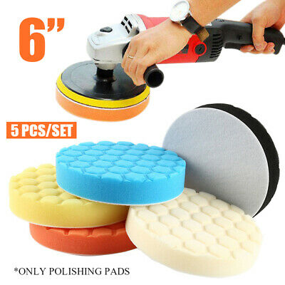 US 5Ps/set 6 Inch 150mm Hex Logic Type Polishing Pads Fit For DA Rotary Polisher